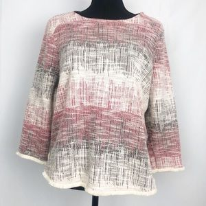 Anthropologie W5 Fringed Multicolored Sweater